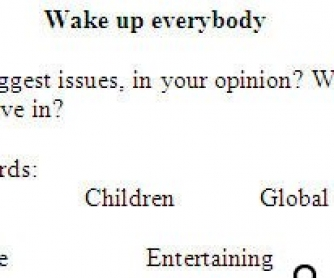 Song Worksheet: Wake Up Everybody by Teddy Pendergrass (WITH VIDEO)