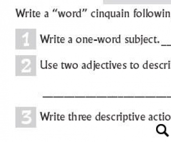 Cinquain: Writing A 5-Line Poem With Your Students