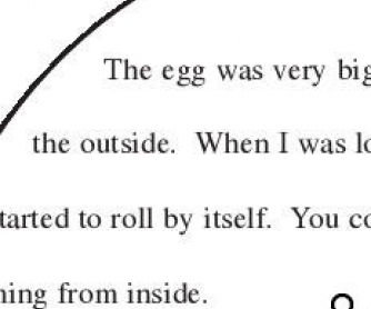 The Egg: Creative Writing Worksheet