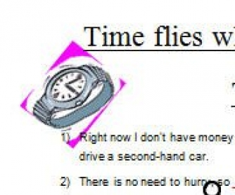 Time Flies When You are Having Fun:Time Idioms