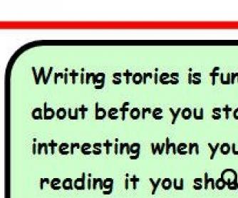 Story Writing/Planning Sheet/Tips