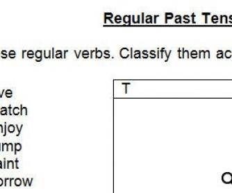 Simple Past Regular Verbs Worksheet