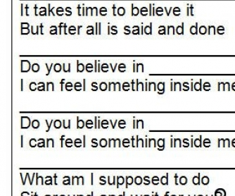 Song Worksheet: Believe by Cher (WITH VIDEO)