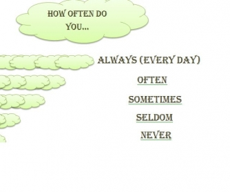 How Often Do You.... (Conversational Questions)