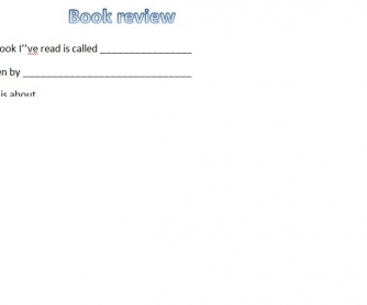 Book Review Writing Template