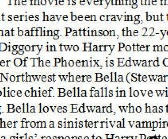 Movie Worksheet: Twilight