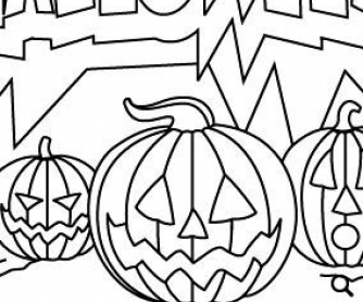 8 Spooky Halloween Coloring Pages