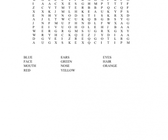 Faces And Colors Word Search