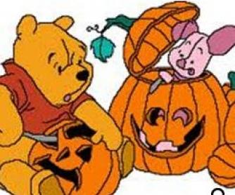 Winnie The Pooh and Halloween Video Worksheet