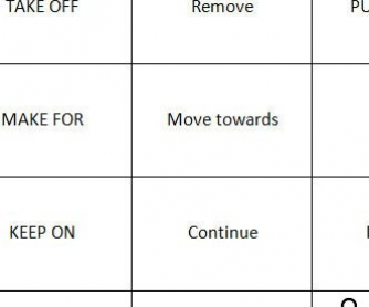 Memory Game With Phrasal Verbs