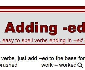 Spelling -ed Words Worksheet