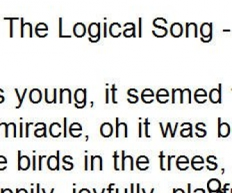Song Worksheet: The Logical Song by Supertramp (WITH VIDEO)