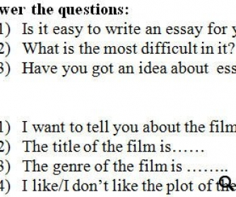 How to Write an Essay? Student's Worksheet