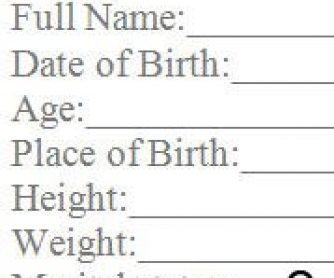 Biography ID Card: Interview Worksheet