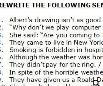 Use of English: Rewriting Activity