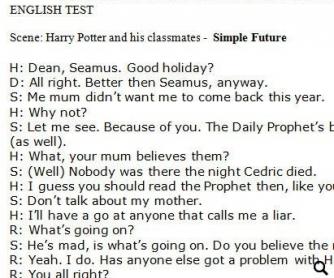 Harry Potter: Simple Future Worksheet