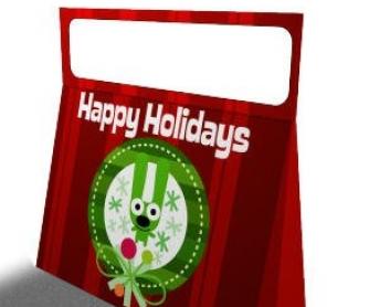 Hoops and Yoyo Mini Holiday Handbag: Christmas Project