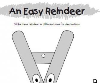 Easy Reindeer: Christmas Project
