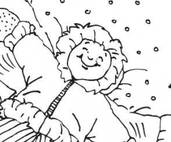 December Calendar and Christmas Coloring Pages