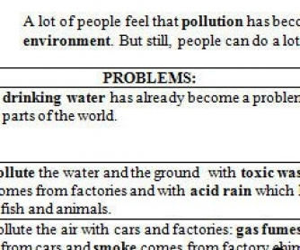 Environment Protection Active Vocabulary Worksheet