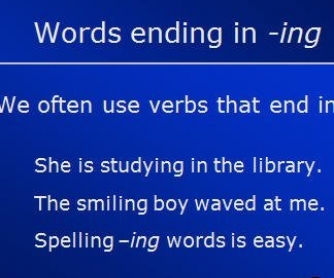 Spelling -ing Words PowerPoint [UPDATED]