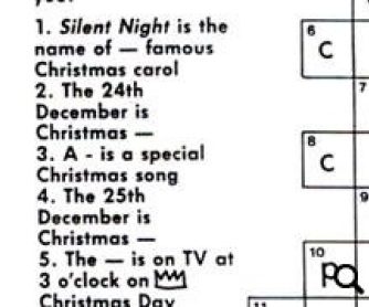 The Christmas Tree Crossword