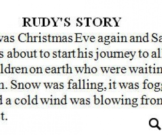 Rudy's Story: Christmas Worksheet