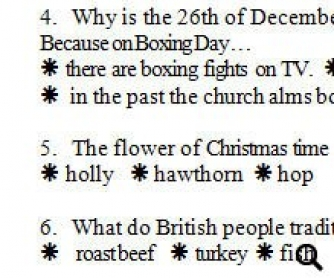 Quick Christmas Quiz