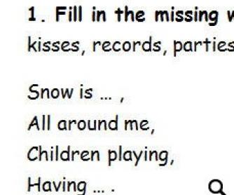 """Song Worksheet """"Merry Christmas Everyone"""""""