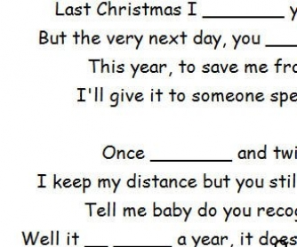 Song Worksheet: Last Christmas by Cascada (WITH VIDEO)