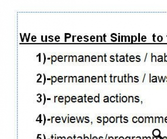 Present Simple Formation and Practice Worksheet