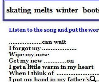 Song Worksheet: Winter by Tori Amos (WITH VIDEO)
