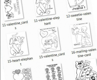 88 Valentine's Day Coloring Sheets for Young Learners