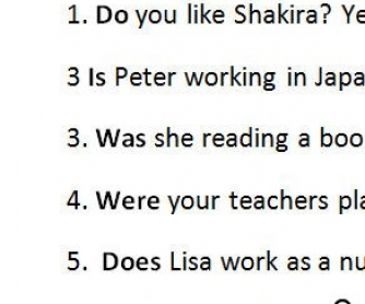 Short Answers Practice 2