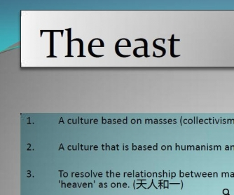 East & West: Cultural Differences