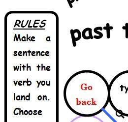 Verb Tenses Boardgame