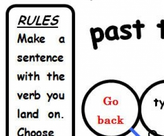 Verb Tenses Boardgame