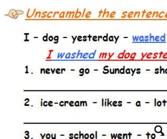 Word Order/Verb Tenses/Personal Pronouns/Questions