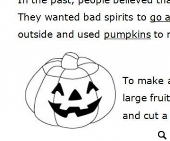 Reading about Halloween