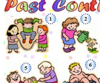 Past Continuous Pictures Worksheet