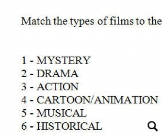 Film Types Worksheet