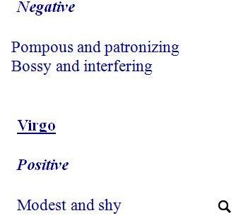 Horoscope Signs Worksheet