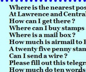 At the Post Office - useful phrases