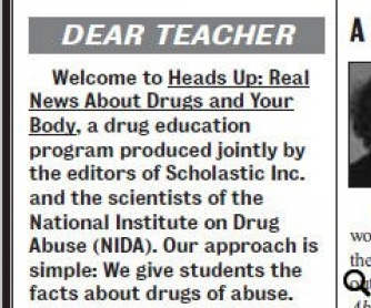 Heads Up: Real News About Drugs And Your Body. Teacher's Materials - Year 2