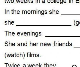 Past Simple Worksheet