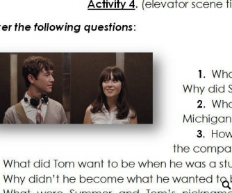 Movie Worksheet: 500 Days of Summer