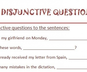Disjunctive Questions