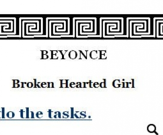 Song Worksheet: Broken Hearted Girl by Beyonce [WITH VIDEO]