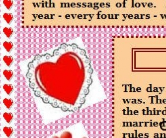 Valentine's Day Text and Activities #2