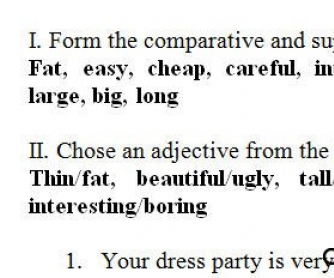 The Adjective Test